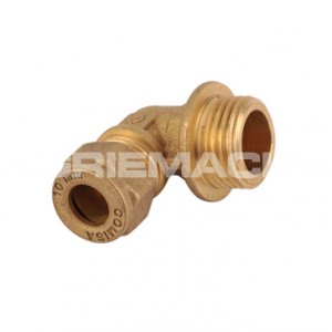 C x M Elbow Brass Compression Fittings