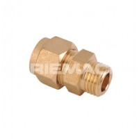 Straight C x M Coupler Brass Compression Fittings