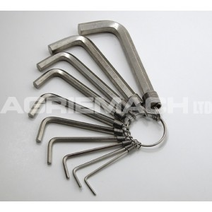 Hex Key Wrench Set (allen Keys) - Sae 10 Pc